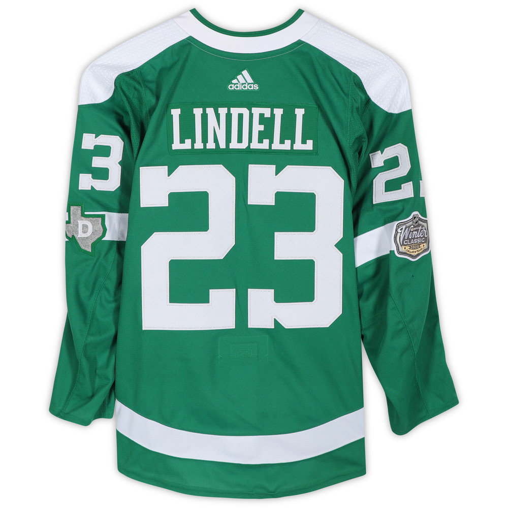 Esa Lindell Dallas Stars Game-Used 2020 NHL Winter Classic Jersey - Worn During First Period