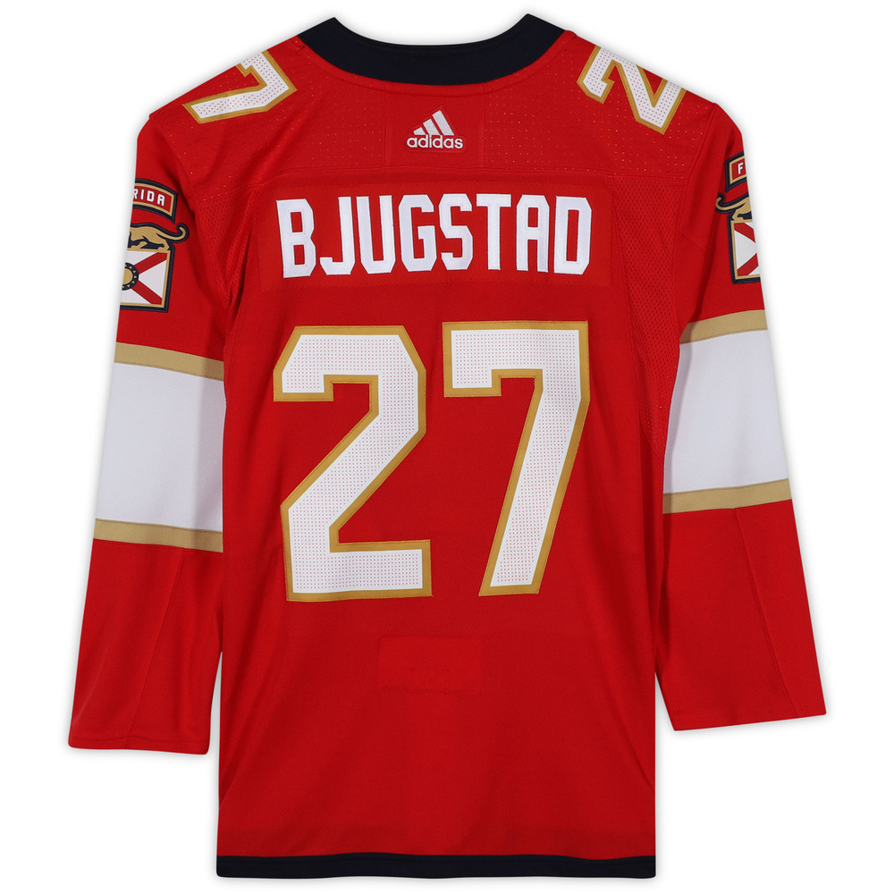 Nick Bjugstad Florida Panthers Unsigned Red Adidas Authentic Jersey