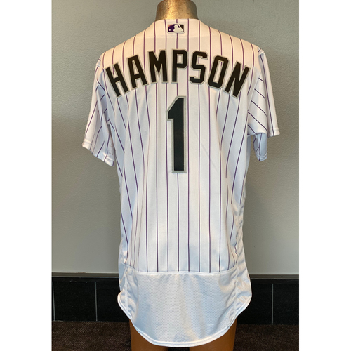 Photo of Colorado Rockies Team-Issued 2020 Home Opener Jersey: Garrett Hampson