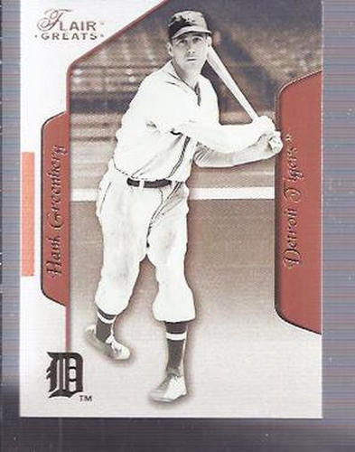 Photo of 2003 Flair Greats #65 Hank Greenberg