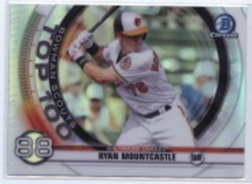 Photo of 2020 Bowman Chrome Scouts Top 100 #BTP88 Ryan Mountcastle