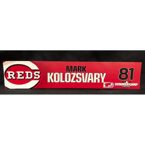 Mark Kolozsvary -- 2020 Sumer Camp Locker Tag -- Team-Issued