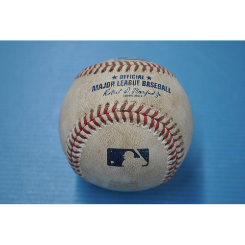 Photo of Game-Used Baseball - MIN at PIT - 8/5/2020 - Pitcher - Dovydas Neverauskas, Batter - Max Kepler, Top 9, Home Run