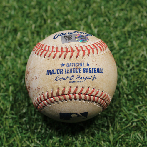 Photo of Game-Used Baseball: Daz Cameron 8th Career Hit (9/24/20 DET @ KC)