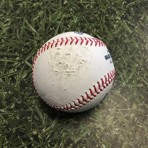 Batting Practice Used Baseball 05/01/21 - Baseball Hit Over Fence by Lorenzo Cain During Batting Practice