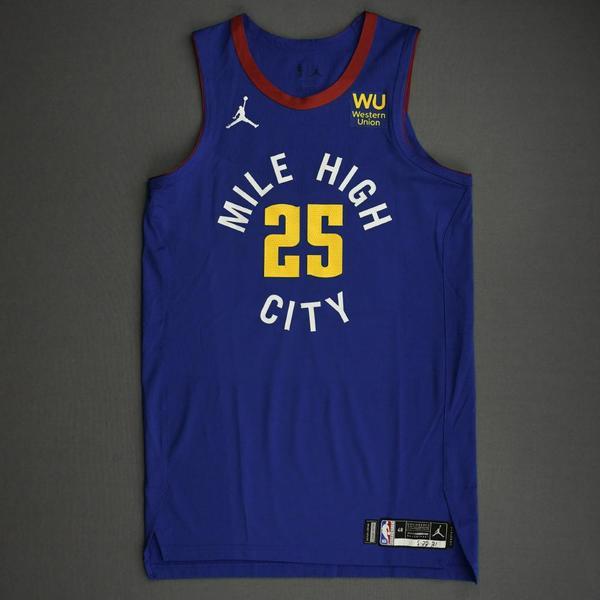 Image of Austin Rivers - Denver Nuggets - Game-Worn Statement Edition Jersey - 2021 NBA Playoffs