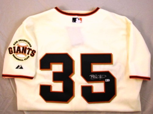 Photo of Brandon Crawford Autographed Authentic Giants Jersey