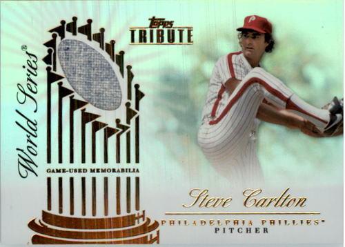 Photo of 2012 Topps Tribute World Series Swatches #SC Steve Carlton