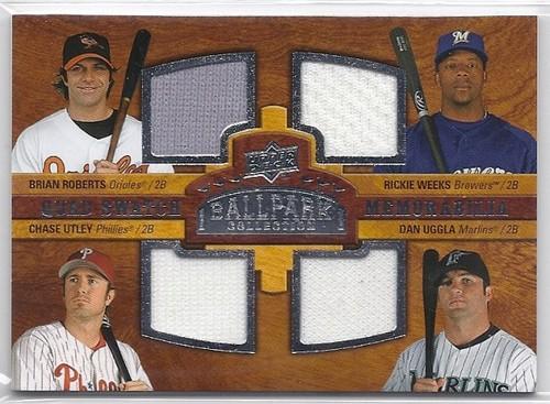 Photo of 2008 Upper Deck Ballpark Collection #240 Brian Roberts/Rickie Weeks/Chase Utley/Dan Uggla