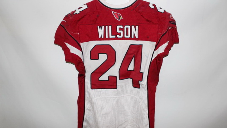 reputable site 1177a ee4b5 NFL Auction | ADRIAN WILSON GAME WORN CARDINALS JERSEY ...