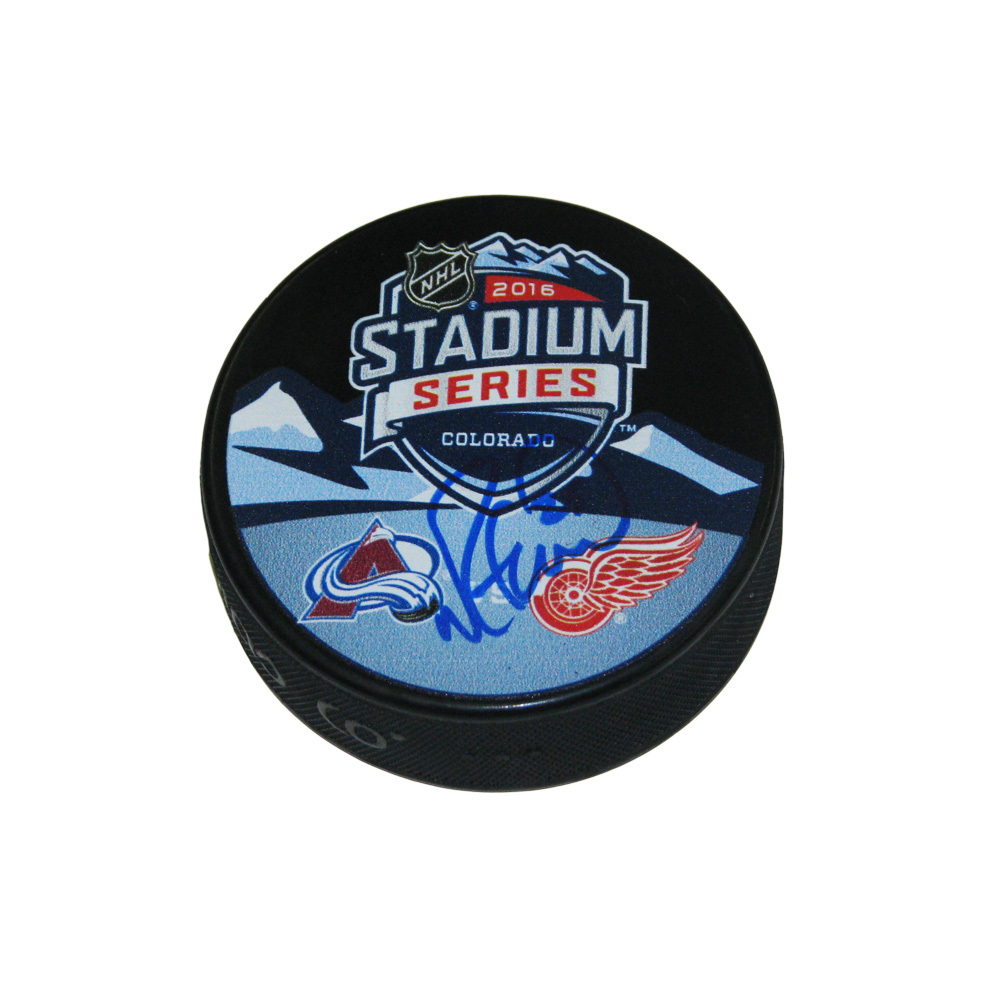 MIKE GREEN Signed 2016 Stadium Series Souvenir Puck - Detroit Red Wings