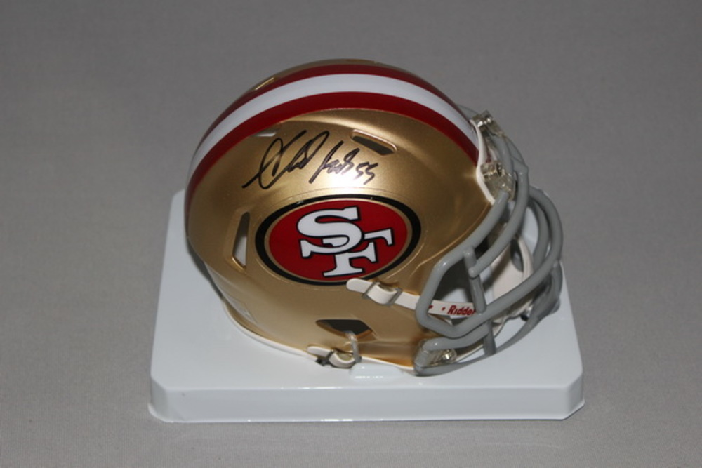 49ERS - AHMAD BROOKS SIGNED 49ERS MINI HELMET