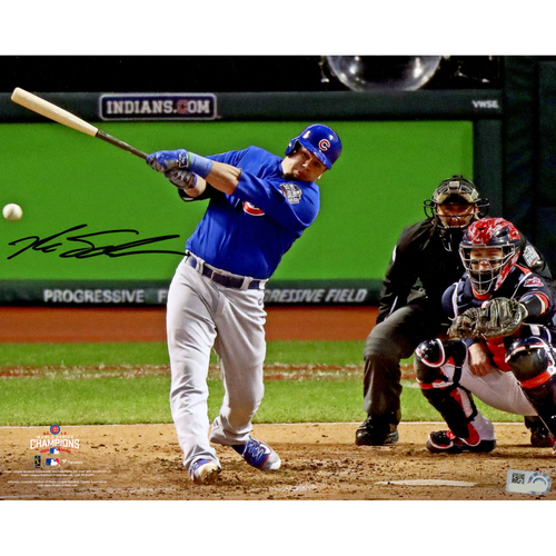 "Photo of Kyle Schwarber Chicago Cubs 2016 MLB World Series Champions Autographed 8"" x 10"" World Series Hitting Photograph"