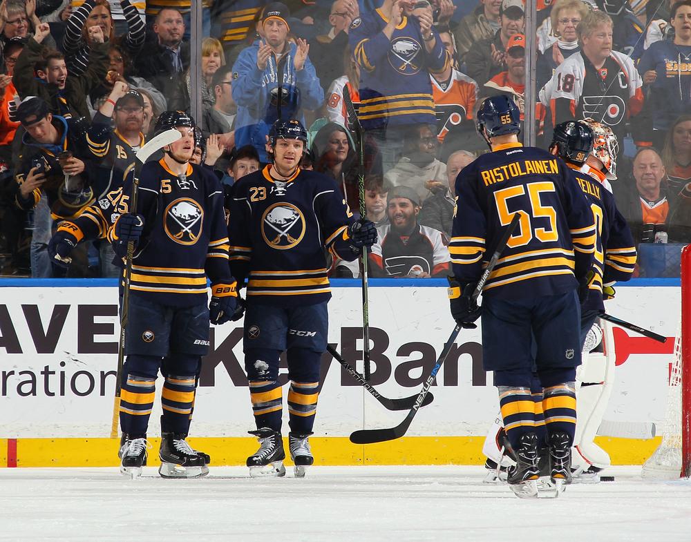 Buffalo Sabres vs. Boston Bruins 2-25-18, Sec 123, Row 1 Seats 7 & 8