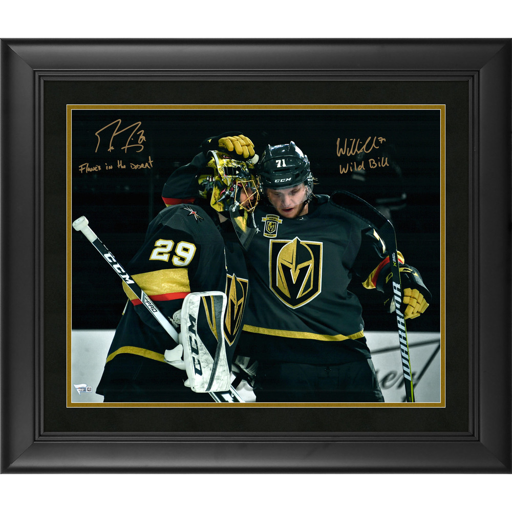 Marc-Andre Fleury & William Karlsson Vegas Golden Knights Framed Autographed 16