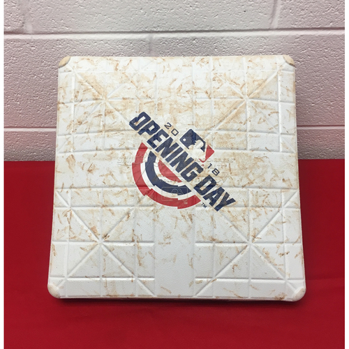 Photo of Game-Used 2nd Base: 2018 Home Opener