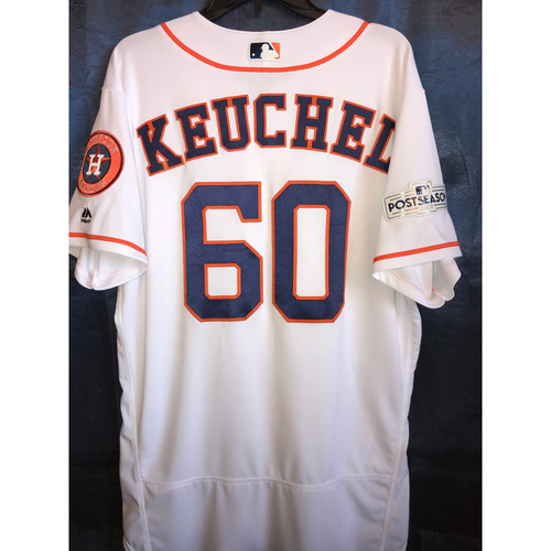 Photo of 2017 Team-Issued Dallas Keuchel Postseason Home Jersey: Size - 46