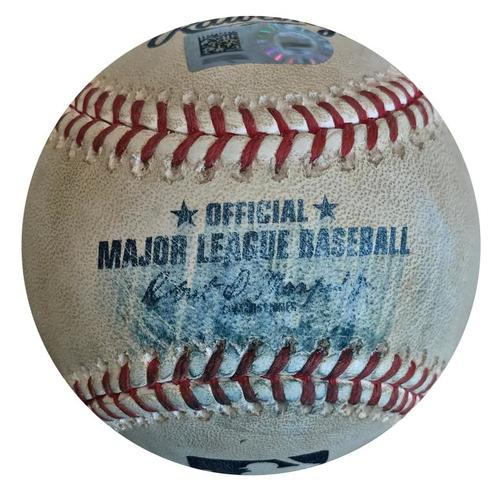 Photo of Game-Used Baseball from Pirates vs. Phillies on 7/6/18 - Scott Kingery Foul