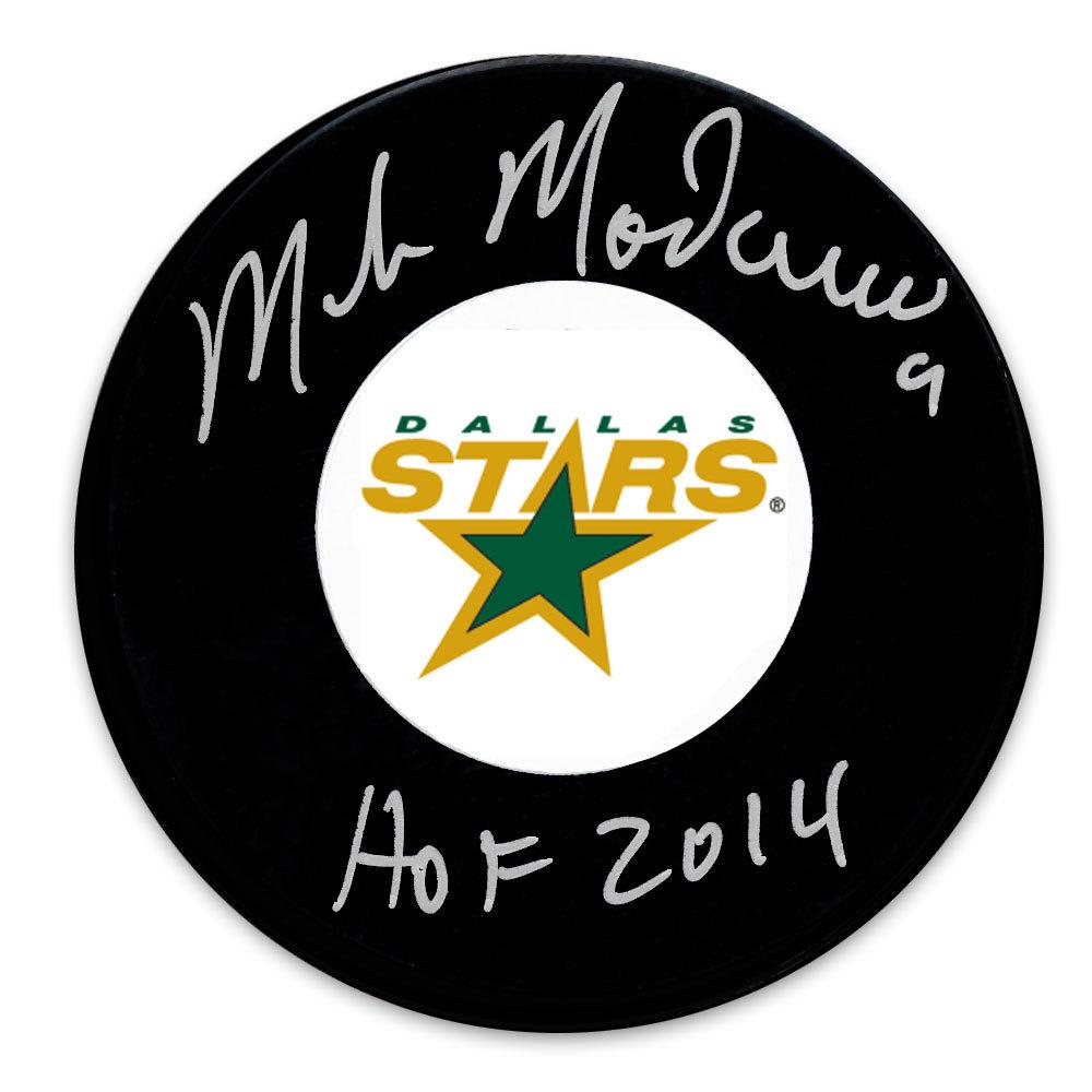 Mike Modano Dallas Stars HOF Autographed Puck