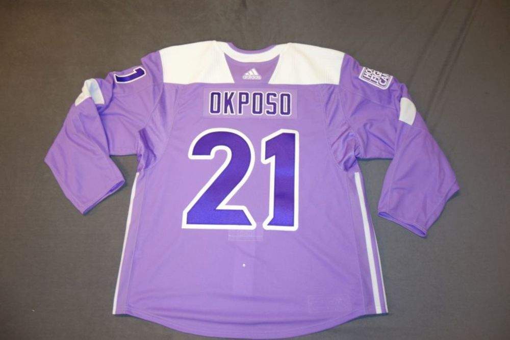 Kyle Okposo 2018 Buffalo Sabres Hockey Fights Cancer Jersey