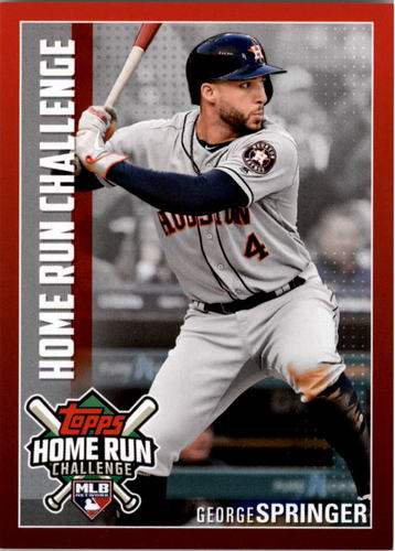 Photo of 2019 Topps Home Run Challenge #HRC28 George Springer