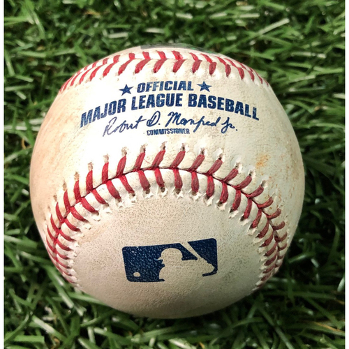Photo of Game Used Baseball: Chaz Roe strikes out Vladimir Guerrero Jr. - May 29, 2019 v TOR