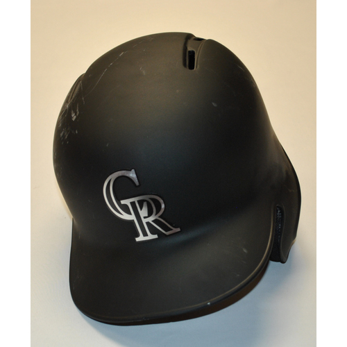 "Photo of German ""MARQUEE""  Marquez Colorado Rockies Team Issued 2019 Players' Weekend Helmet"