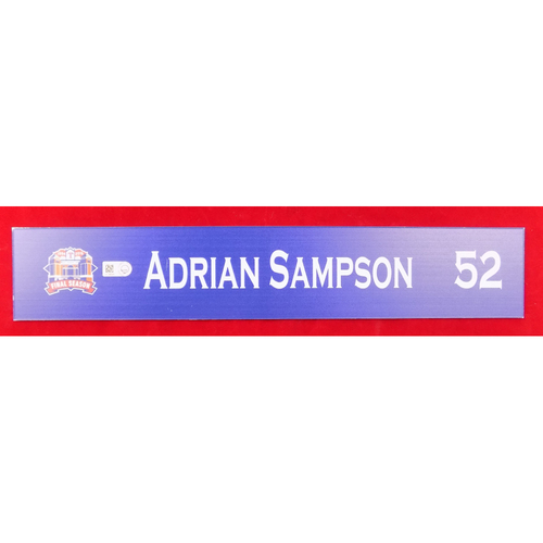 Photo of Final Season Game-Used Locker Tag - Adrian Sampson - 9/13/19 vs OAK
