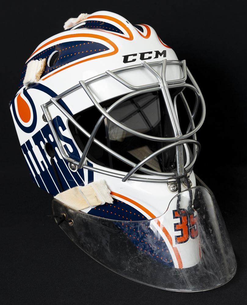 Al Montoya #35 - 2017-18 Edmonton Oilers Game-Worn CCM Goalie Mask ...