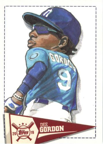 Photo of 2019 Topps Big League Star Caricature Reproductions #SCRDG Dee Gordon