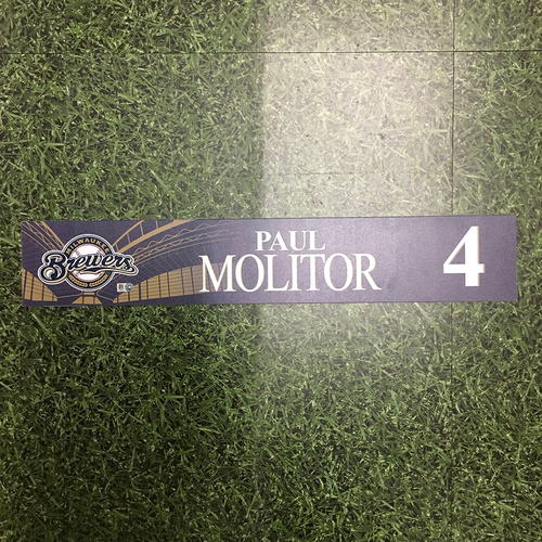 Photo of Paul Molitor 2016 Team-Issued Locker Nameplate