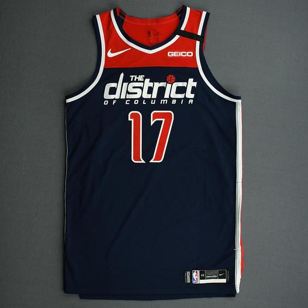 Image of Isaac Bonga - Washington Wizards - Game-Worn Statement Edition Jersey - 2019-20 NBA Season