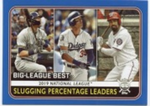 Photo of 2020 Topps Big League Blue #252 Anthony Rendon/Cody Bellinger/Christian Yelich LL