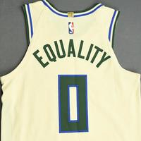 Donte DiVincenzo - Milwaukee Bucks - Game-Worn City Edition Jersey - 2019-20 NBA Season Restart with Social Justice Message