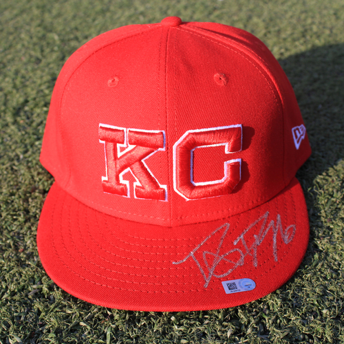 Autographed/Team-Issued Monarchs Cap: Danny Duffy #41 (STL @ KC 9/22/20)