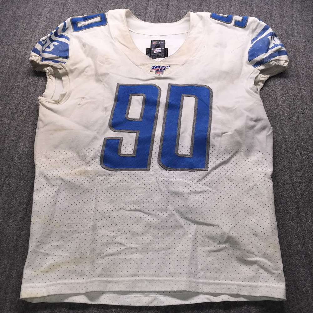 NFL Auction | STS - Lions Trey Flowers Game Used Jersey (11/17/19 ...