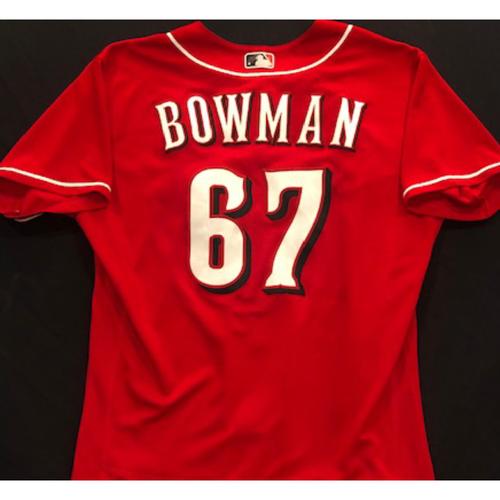 Photo of Matt Bowman -- 2020 Spring Training Jersey -- Team-Issued -- Size 46