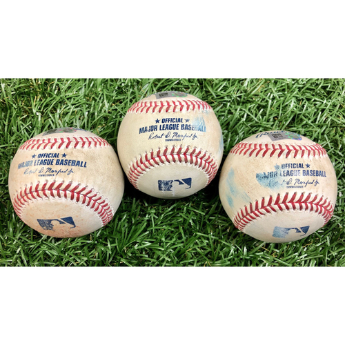 Photo of Game Used Baseball Package: Alex Verdugo, Michael Chavis, Christian Vazquez and Kevin Plawecki - September 11, 2020 v BOS