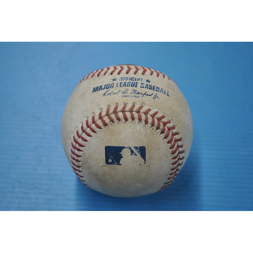 Photo of Game-Used Baseball - DET at PIT - 8/7/2020 - Pitcher - Matt Boyd (DET), Batter - Bryan Reynolds, Bot 5, Single