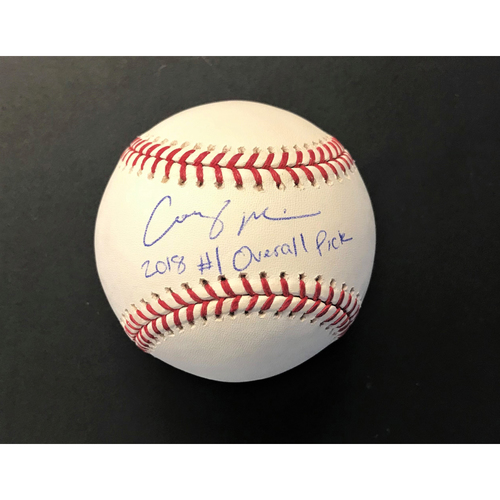 Photo of * Holiday Sale * Casey Mize Detroit Tigers Autographed Official Major League Baseball with 2018 #1 Overall Pick Inscription (MLB Authenticated)