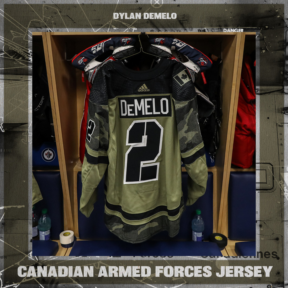 DYLAN DEMELO Warm Up Worn Canadian Armed Forces Jersey