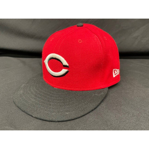 Photo of Mike Moustakas -- Game-Used Cap -- Worn During Wade Miley No-Hitter on May 7, 2021 - Reds @ Indians -- Size 7 1/2