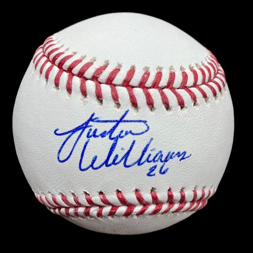 Photo of Justin Williams Autographed Baseball