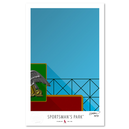 Photo of Sportsman's Park - Collector's Edition Minimalist Art Print by S. Preston Limited Edition /350  - St. Louis Cardinals