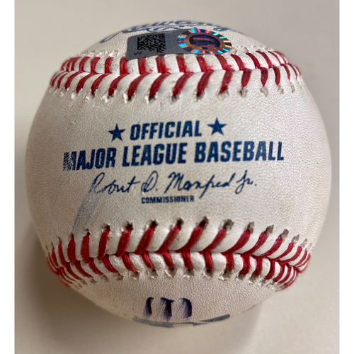 Photo of Game-Used Baseball:  Miguel Cabrera Foul Ball with #46 Stencil Prepared for Home Run #500 (MLB AUTHENTICATED)
