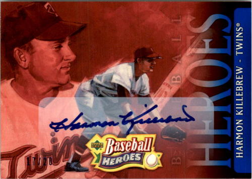 Photo of 2005 Upper Deck Baseball Heroes Signature Blue #35 Harmon Killebrew HDR