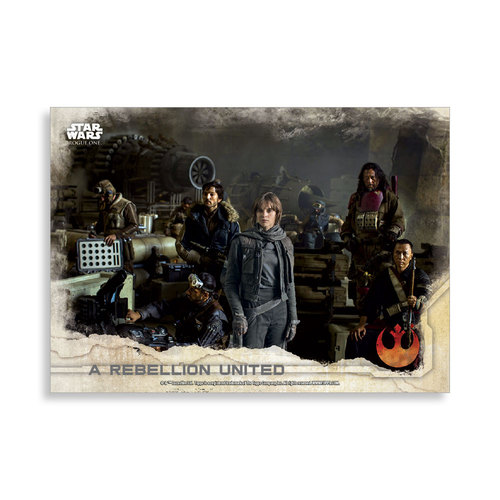 A Rebellion United 2016 Star Wars Rogue One Series One Base Poster - # to 99