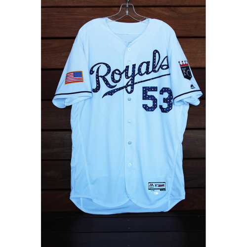 Game-Used Eric Skoglund 4th of July Home Jersey (Size 48 - MIN at KC - 7/2/17)