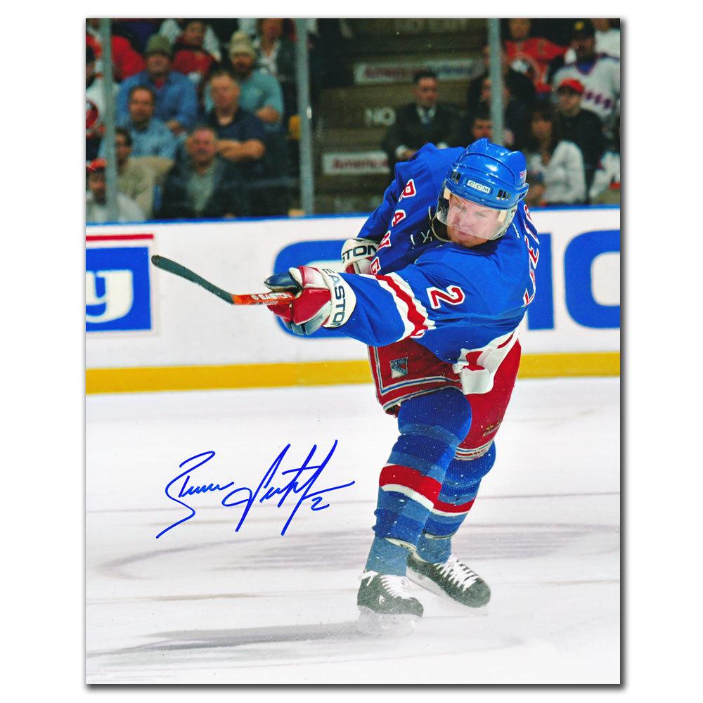 Brian Leetch New York Rangers SLAP SHOT Autographed 8x10