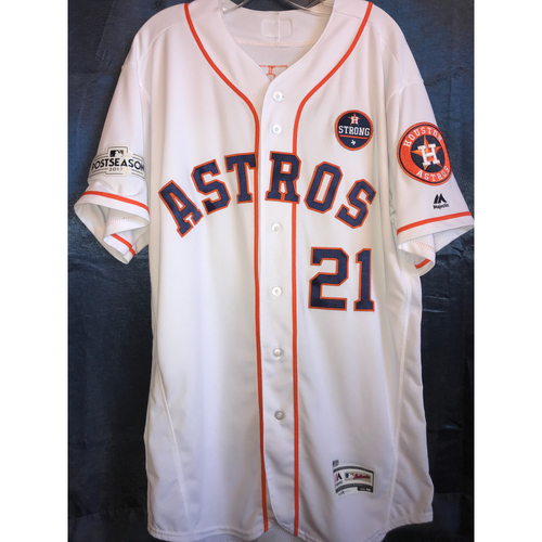 Photo of 2017 ALCS Game 6 Derek Fisher Game-Used Jersey